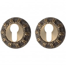 Накладка цилиндровая на круглой розетке Античная бронза