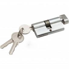 Цилиндр ключ фиксатор хром