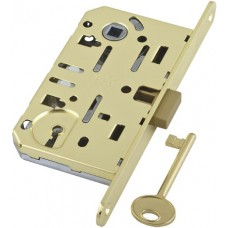 Замок AGB (АГБ) межкомнатный под ключ (латунь) MEDIANA EV. (инд.упак+B01000.40.03)