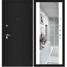 CLASSIC шагрень черная/ с зеркалом максимум Белый софт