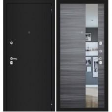 CLASSIC шагрень черная/ Сандал серый горизонтальный с зеркалом