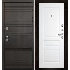Входная дверь Министр Турин белая эмаль